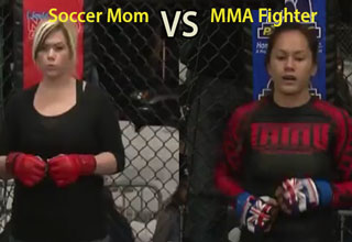 soccer mom fights an actual mma fighter