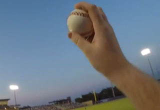GoPro Captures Fan's Barehanded Ca