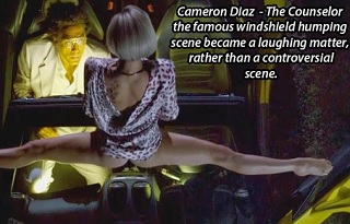 cameron diaz sex scene where she humps a windshield in the movie the conuselor