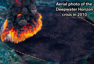 a photo of the deepwater horizon in 2010
