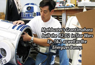 grant imahara from mythbusters built the R2D2 in star wars