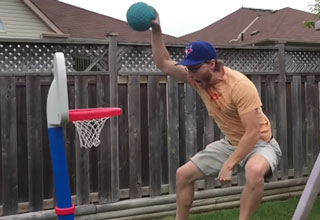 Uncle Of The Year's High Flying Slo-Mo Dunk