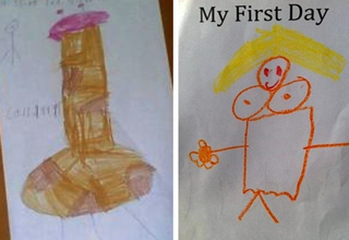 Innocent Children�s Drawings Only Adults Can Truly Appreciate