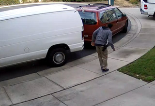 Amazon Delivery Driver Hits Family Minivan Twice