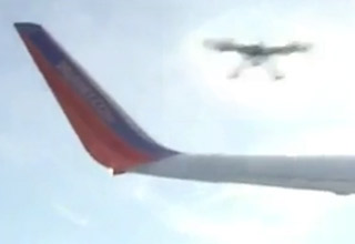 drone about to hit airplane