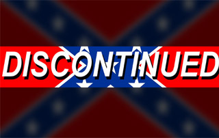 confederate flag with discontinued label