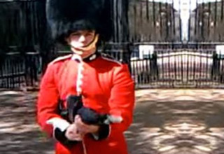 Queen's Guard Pulls Gun On Annoying Tourist