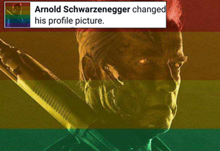 Arnold Schwarzenegger facebook profile rainbow