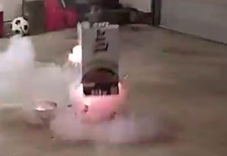 Lighting A Mortar Shell Inside The Garage