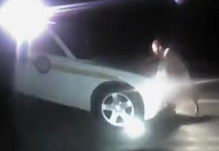 Naked Lunatic Steals A Cop Car