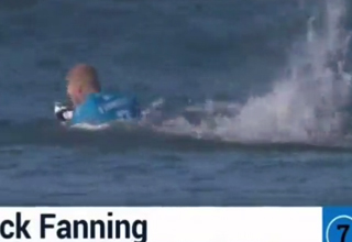 Surfer Attacked By Shark on Live TV