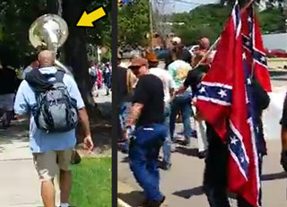 One Sousaphone Ruins An Entire KKK March