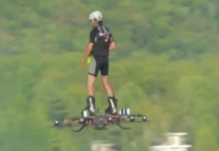 Guy Turned His Drone Into A Hoverbaord