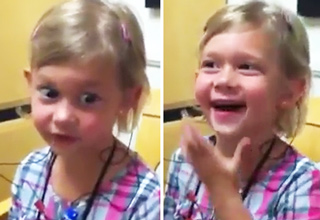 Little Girl Hears Her Voice For The First Time