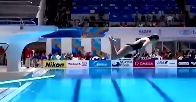 This is How You Fail at a Diving Competition