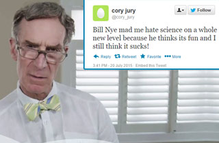 Bill Nye Reading Mean Tweets