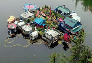 Canadian Couple Built Their Own Self-Sustaining Island