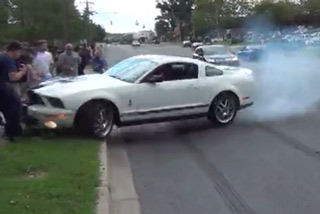 Dumbass Showoff Almost Runs Over Crowd