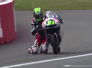 Motorcycle Racer Pulls Off Epic Save