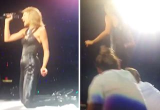 Guys Attempt To Take Taylor Swift Off The Stage