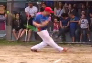 Softball Player Hits An Insa