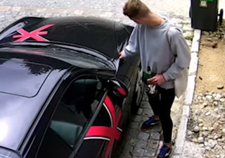 Giant A**hole Keys Up A Porsche
