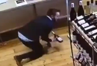 Perfect Catch Caught on Security Camera