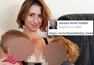 Woman Posts Photo of Her Breastfeeding Child She's Babysitting