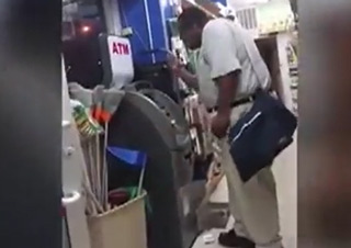 Man Goes Nuts When Atm Won't Give Him His Money