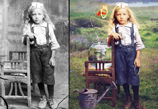 Old Photos Brought To Life With A Surreal Twist