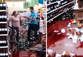 Psycho Chick Destroys Supermarket