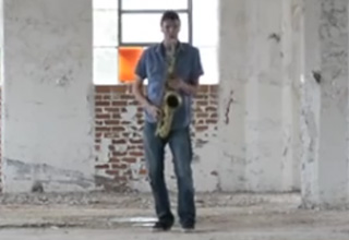 Saxophone Inside An Empty Warehouse