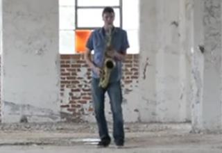 Saxophone Inside An Empty Warehouse