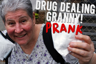 Drug Dealing Grandma Prank