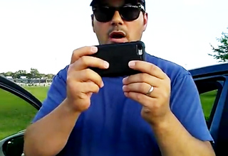 Man Confronts Guy About Flying Drone In Public Field