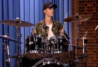 Justin Bieber Owns The Drums