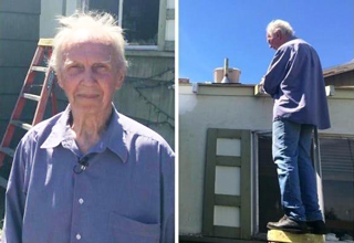This Old Man Was Struggling To Re-roof His House, Then...