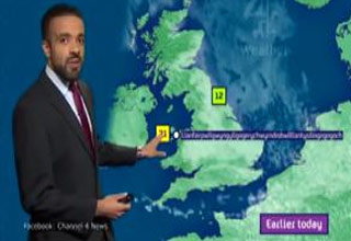 Weatherman Nails A 58-letter Villag