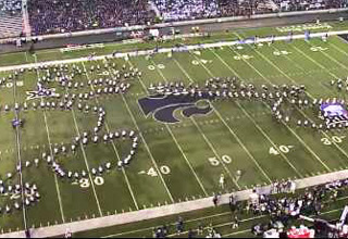 Kansas State Band Trolls Kansas By Forming A Jayhawk Eating A Dick