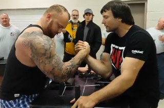 World Arm Wrestling Champ vs. The Mountain