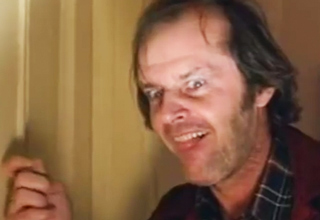 Jack Nicholson Prepping For Axe Scene In 'The Shining'