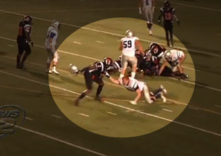 High School Player Hits Opponent With Helmet