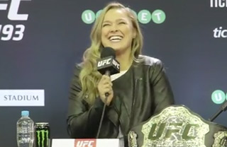 Ronda Rousey's Sexual Innuendo During Press Conference