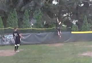 Wiffle Ball Player Invents New Way To Rob A Home Run