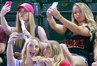 Sorority Sisters At A Baseball Game