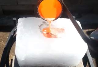 Pouring Molten Copper Onto Ice Is a Bad Idea