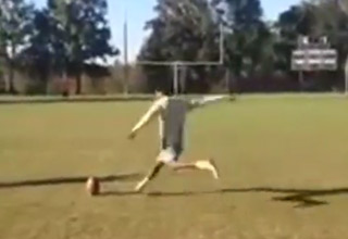 High School Kicker Hits 51 Yard Field Goal