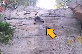 Rock Climber Plummets To The Ground...