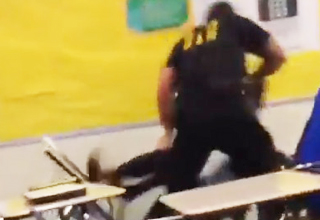 Police Officer Brutally Throws Student From Her Desk