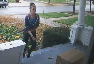 Woman Stealing Packages Off My Po